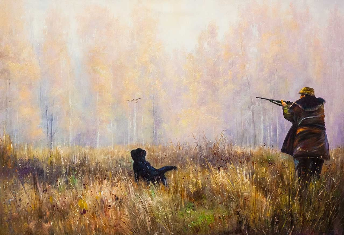 Alexander Romm. Hunting in the early morning