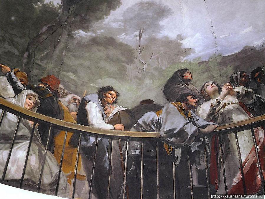 Франсиско Гойя. Фреска часовни Св. Антония Флоридского, деталь 4