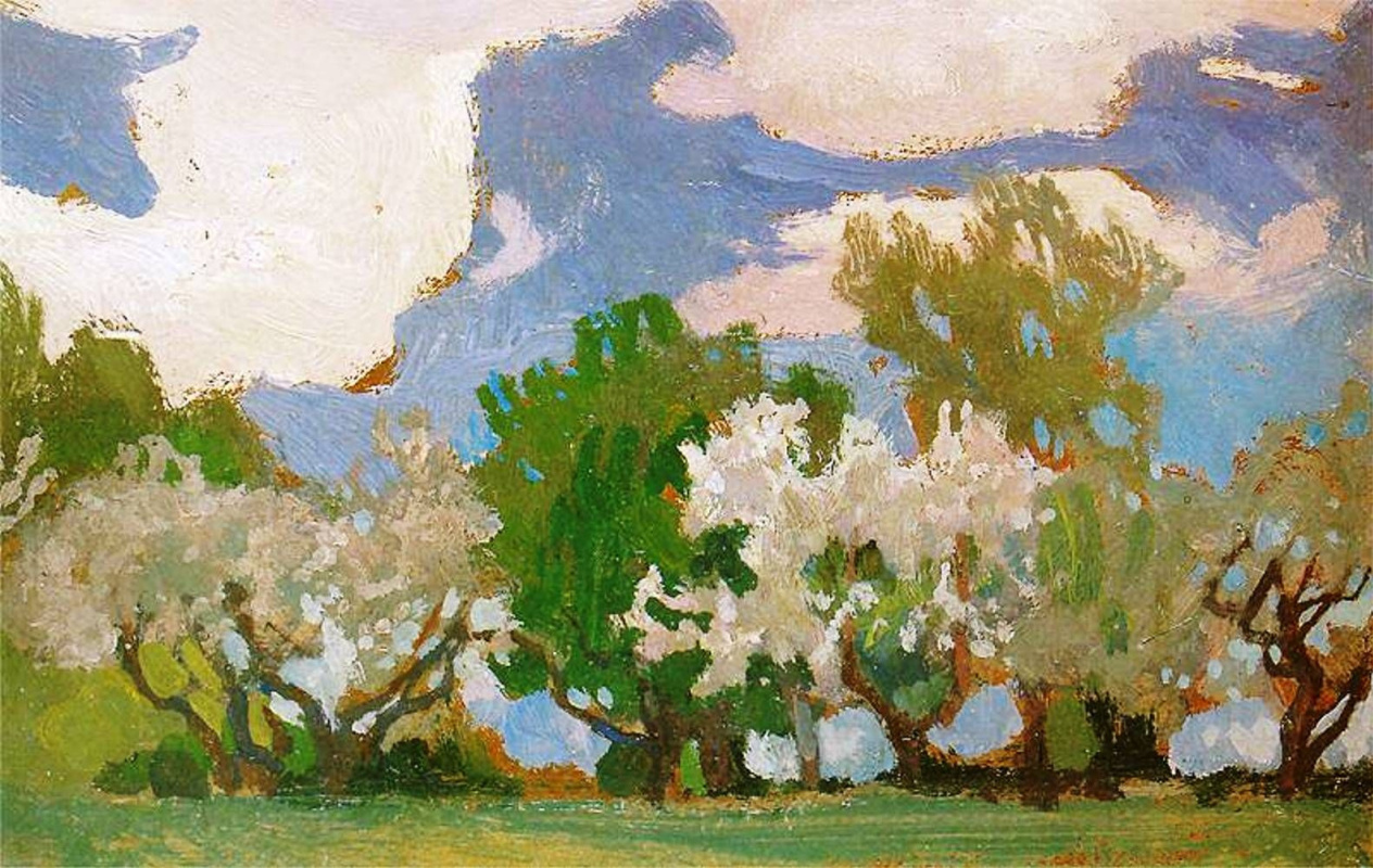 Jan Stanislavsky. Blossoming apple-trees