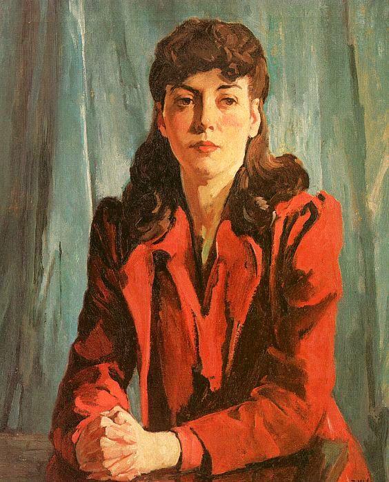 Бвессел. Женщина в красном пиджаке
