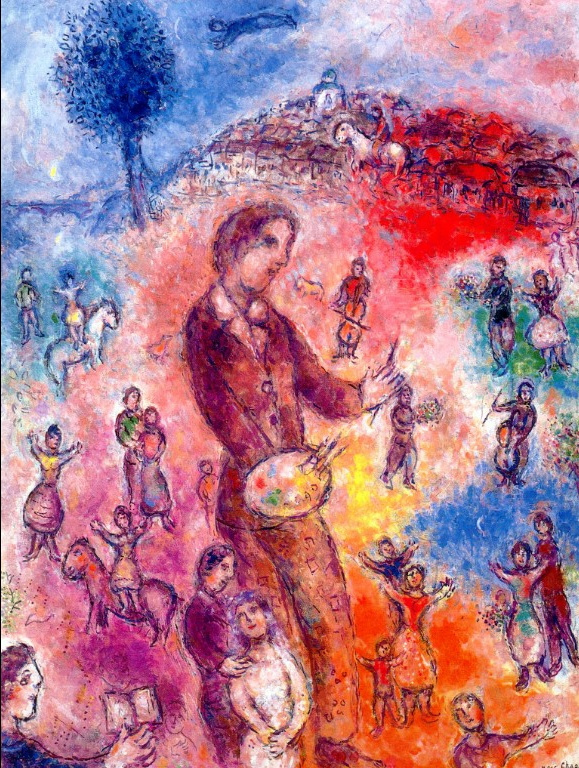 Marc Chagall. Self-portrait with bouquet