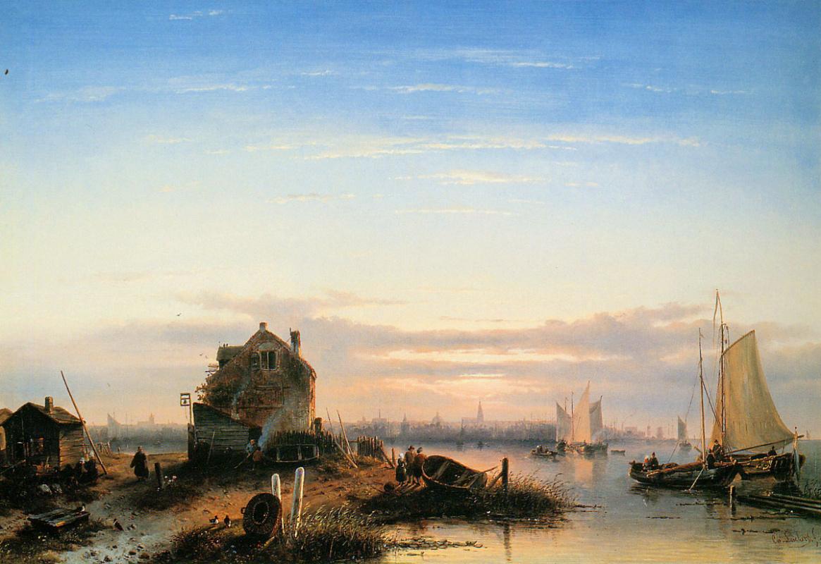 Charles Henry Joseph Lackert. The view over Amsterdam