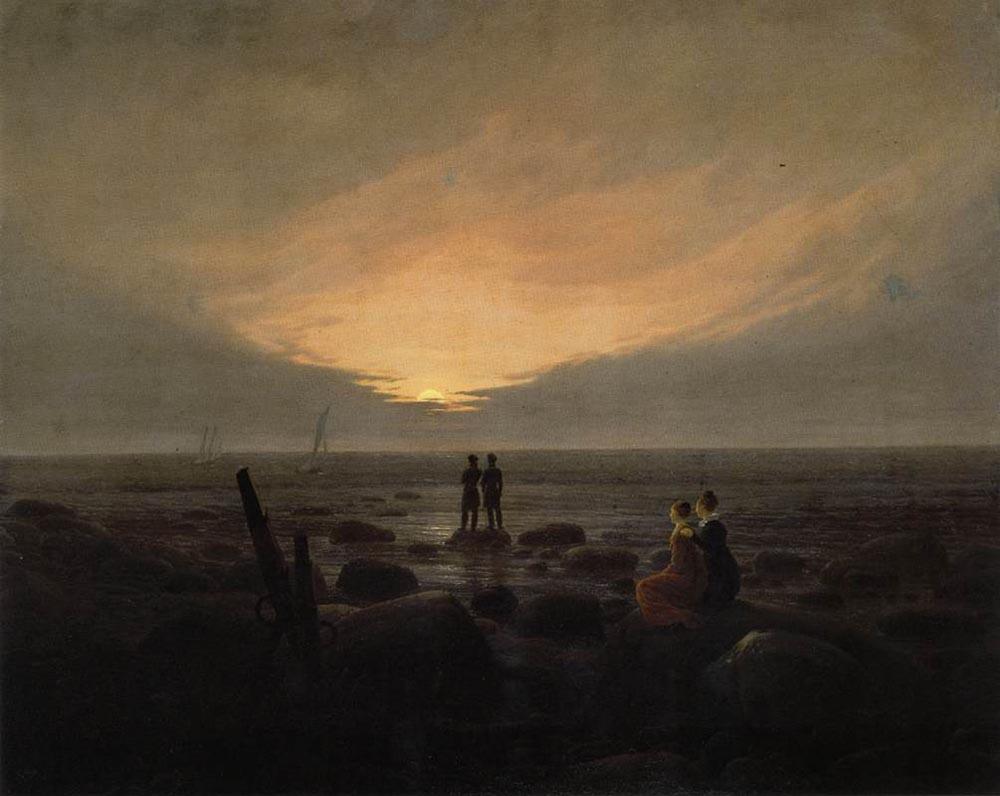 Каспар Давид Фридрих. Восход Луны у моря
