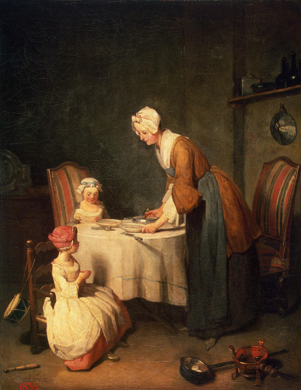 Jean Baptiste Simeon Chardin. Prayer before lunch