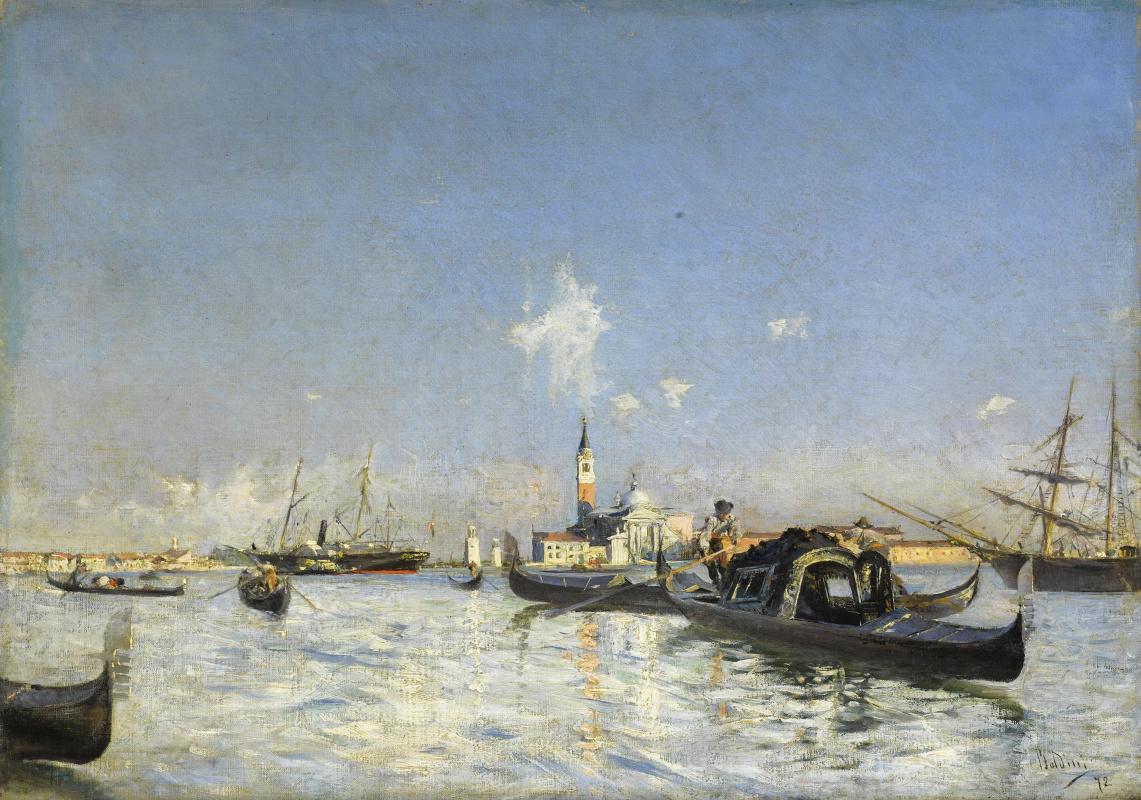 Джованни Больдини. Вид на остров Сан-Джоржио в Венеции