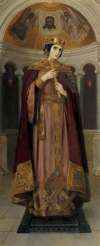 Николай Корнилович Бодаревский. Святая царица Александра. Икона