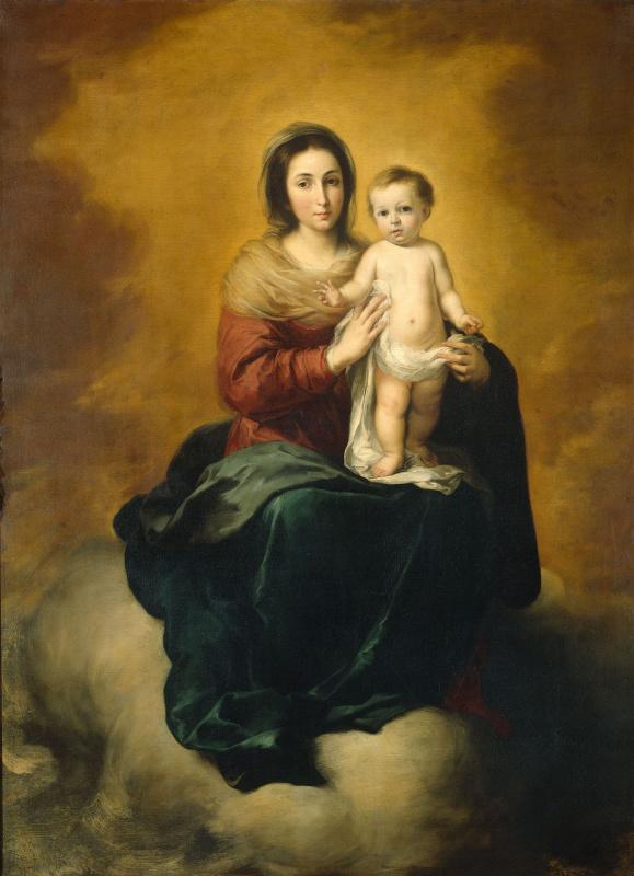 Bartolomé Esteban Murillo. Madonna in the clouds