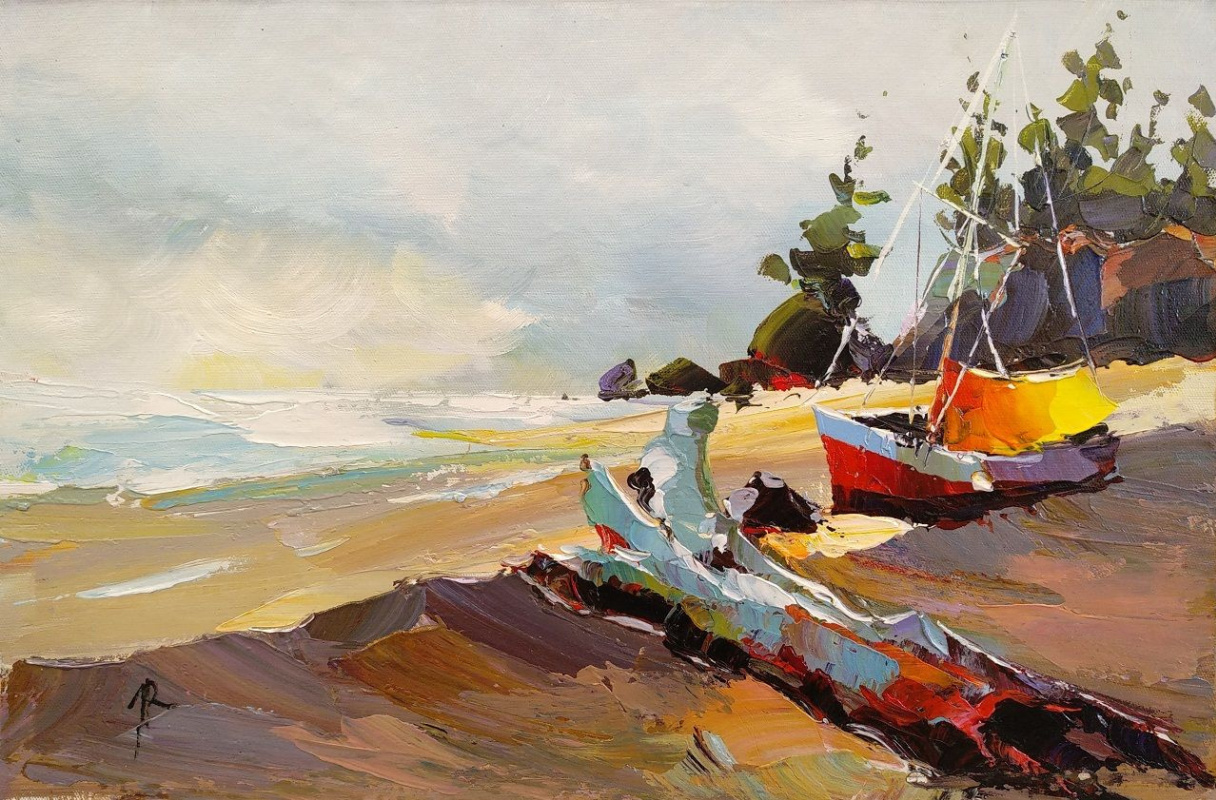 Jose Rodriguez. Boat on the shore N2