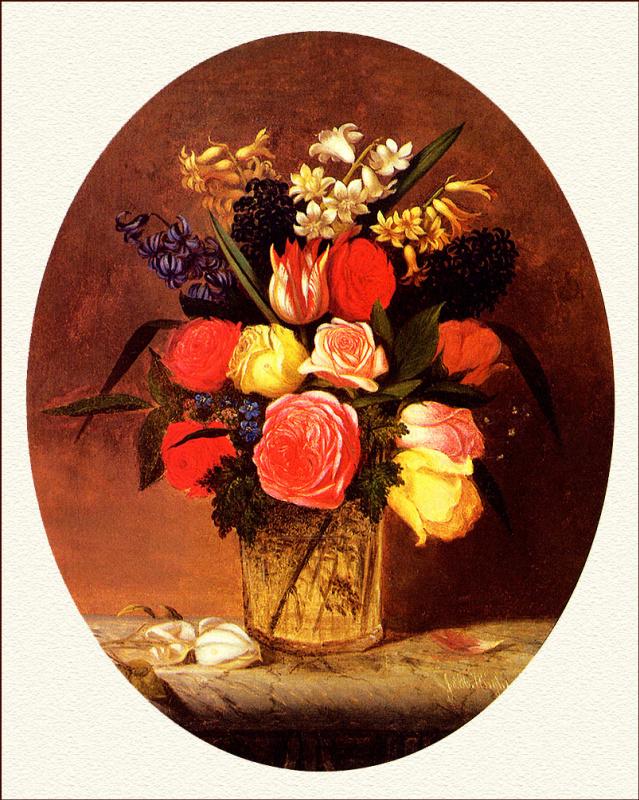 Джеймс Генри Райт. Натюрморт с цветами