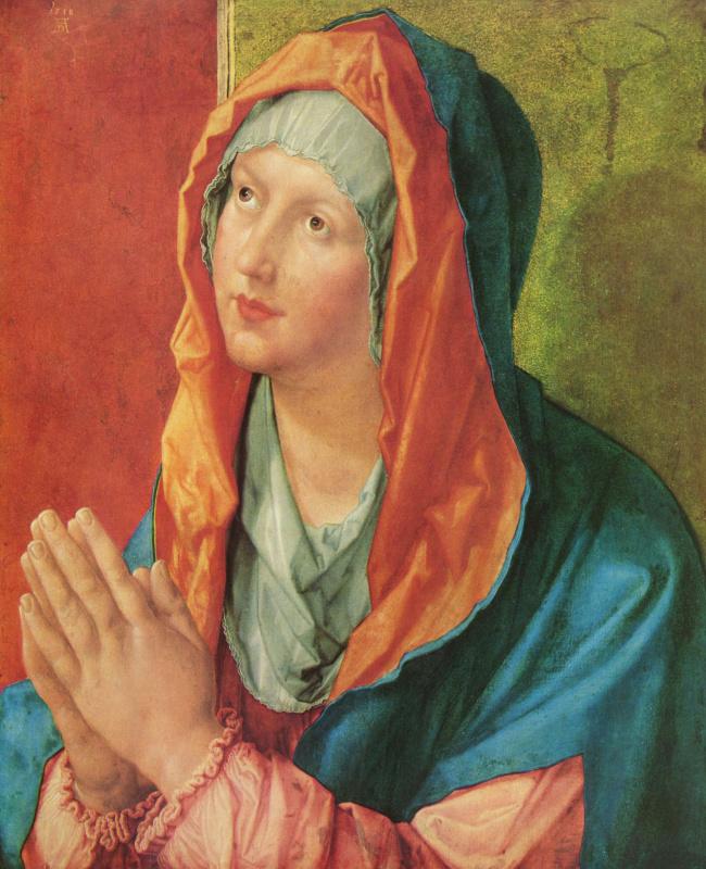 Albrecht Durer. Virgin Mary praying