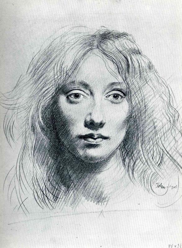 Джон Август. Портрет женщины