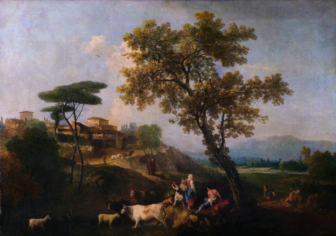 Зуккарелли Франческо. Пейзаж с крупным рогатым скотом