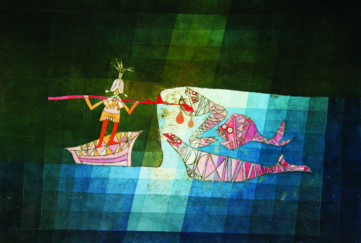 Пауль Клее. Сцена битвы из комической фантастической оперы «Моряк»