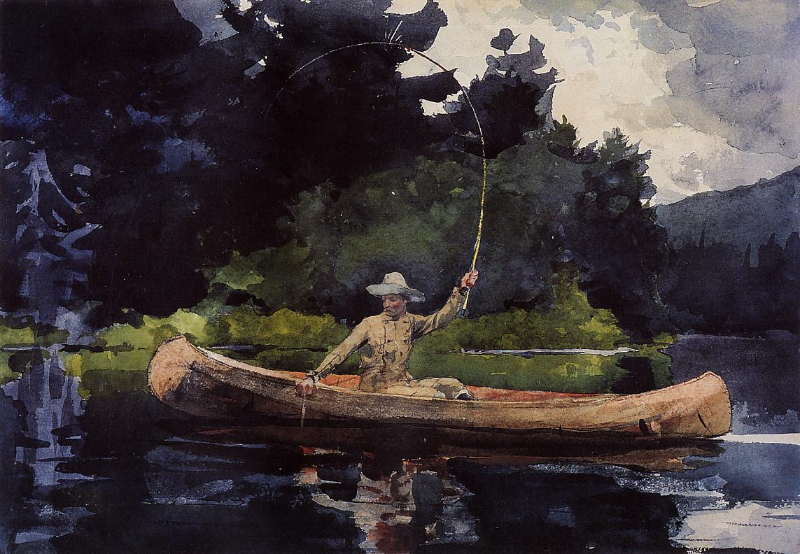 Winslow Homer. North of the forest. Fishing