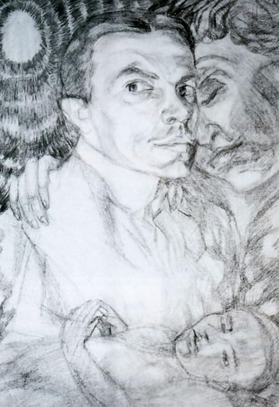 Pavel Varfolomeevich Kuznetsov. Self-portrait with Muse