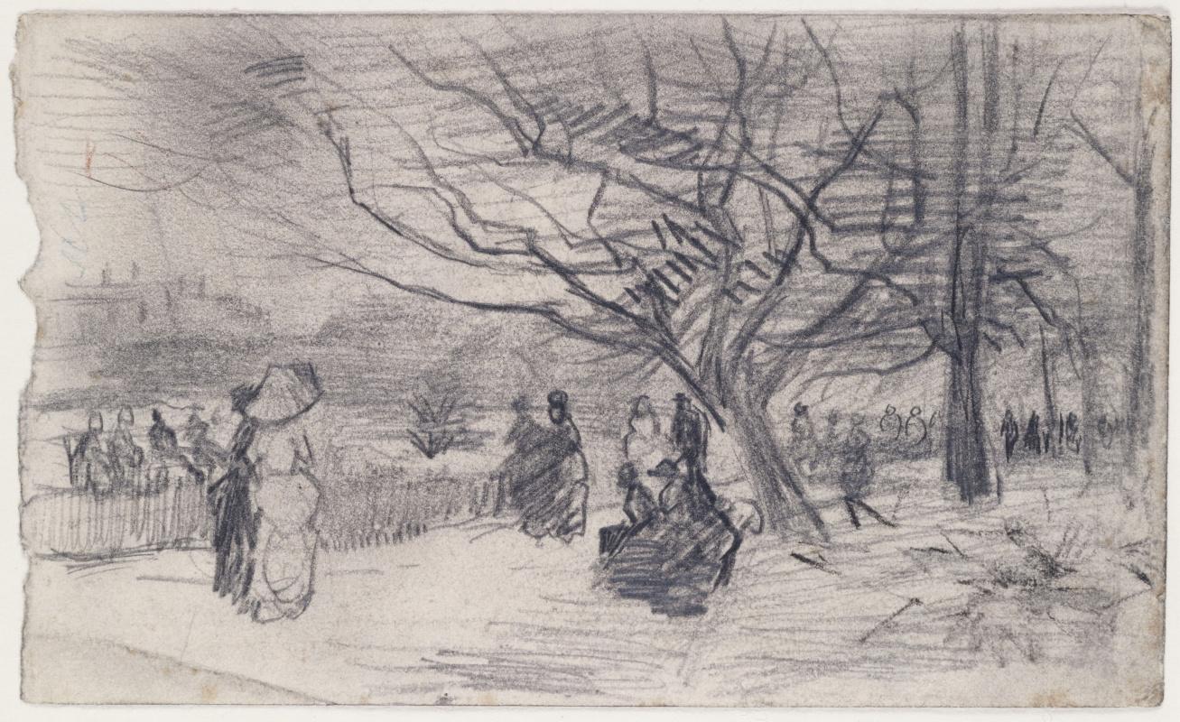 Vincent van Gogh. Figures in the Park