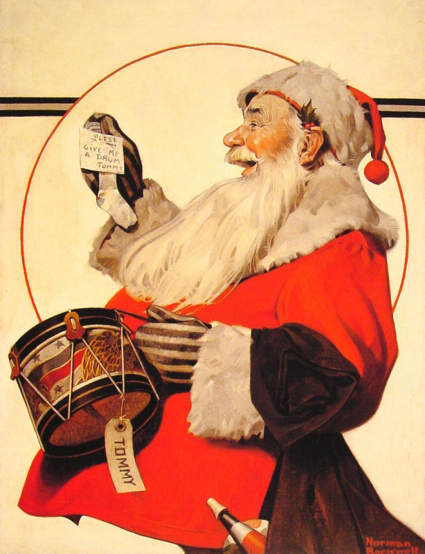 Norman Rockwell. A drum for Tommy