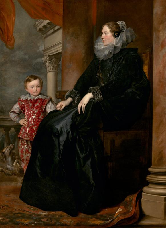 Антонис ван Дейк. Портрет генуэзской аристократки с сыном