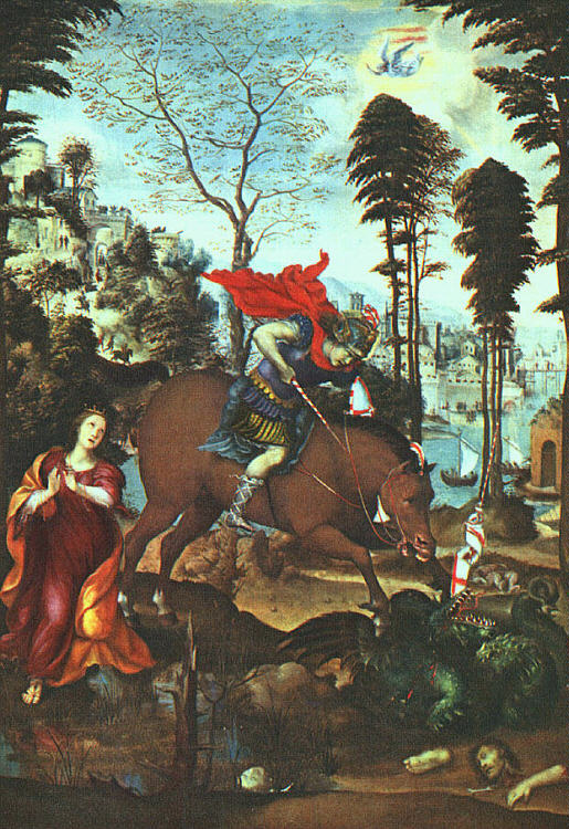 Giovanni Antonio Bazzi (Sodom). St. George and the dragon