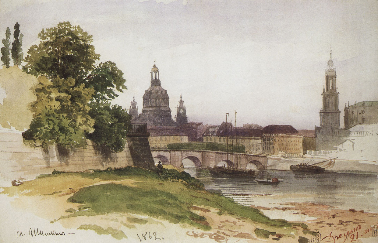 Ivan Shishkin. Dresden. Bridge Aug