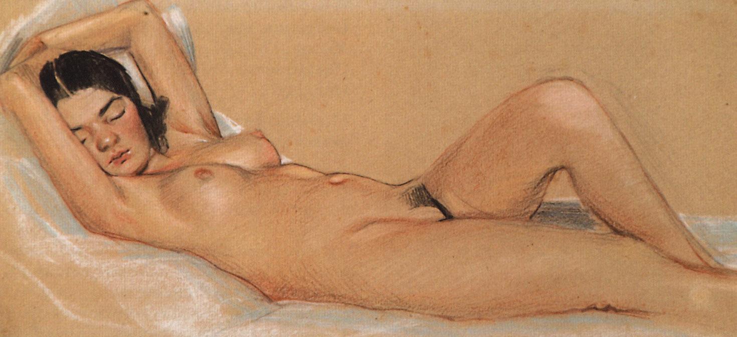 Sergey Arsenievich Vinogradov. Sleeping Nude