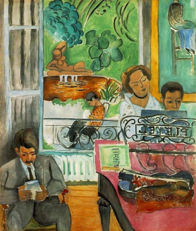 Henri Matisse. Music lesson