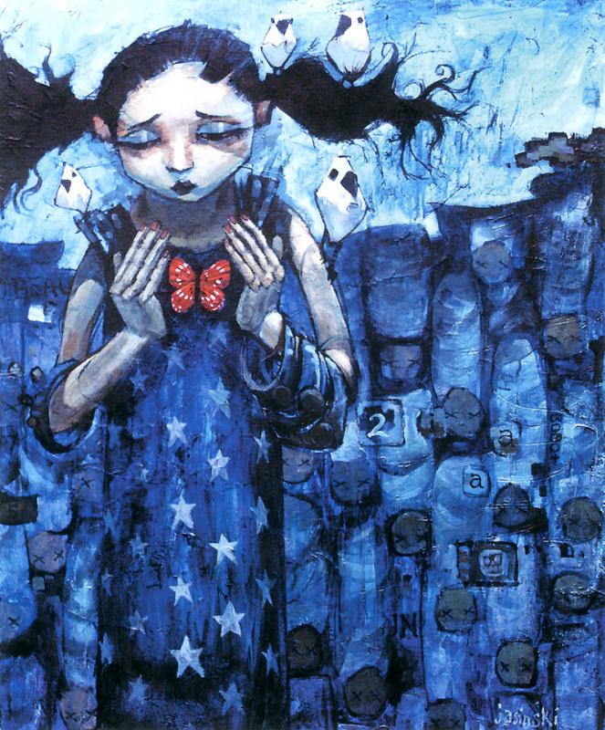 Аарон Ясинский. Девочка с бабочкой