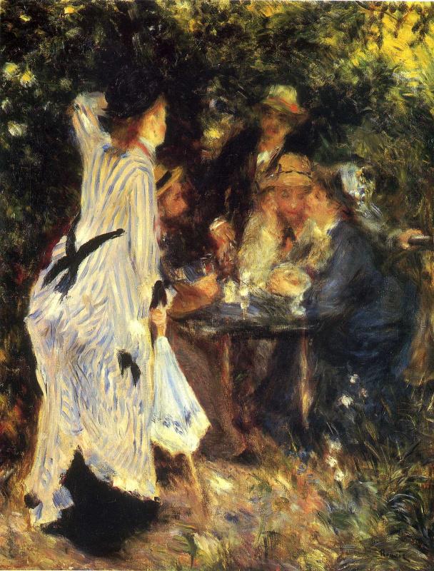 Pierre Auguste Renoir. In the Garden. Under the Trees of Moulin de la Galette