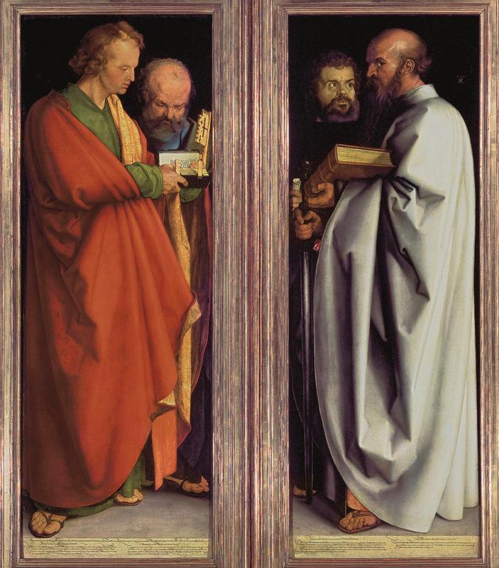 Альбрехт Дюрер. Четыре апостола (Иоанн, Петр, Марк, Павел)