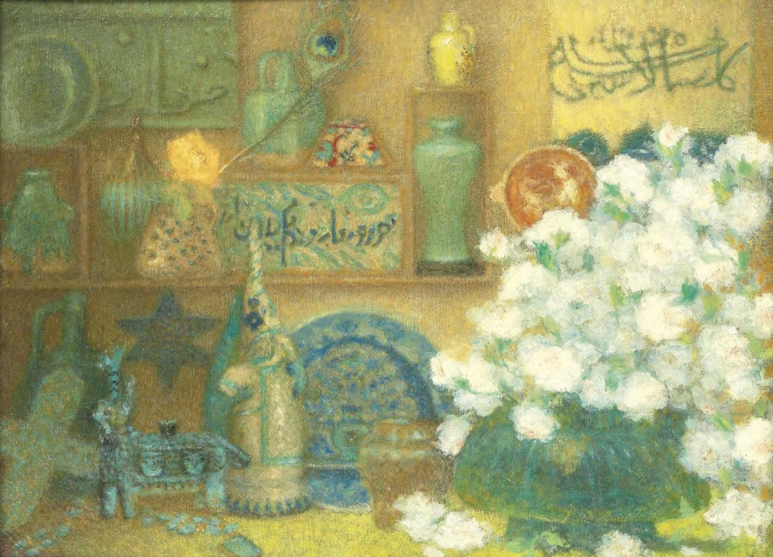 Lucien Levi-Durme. Still life with Islamic ceramics.