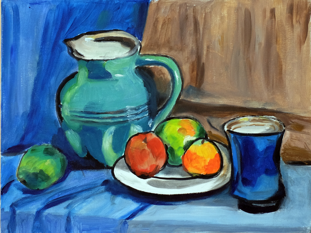 Anna Akchurina. Still life a la Matisse