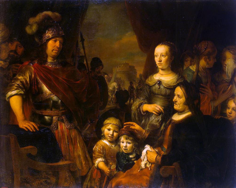 Гербрандт Янс ван ден Экхаут. Мать и жена Кориолана умоляют о пощаде Рима