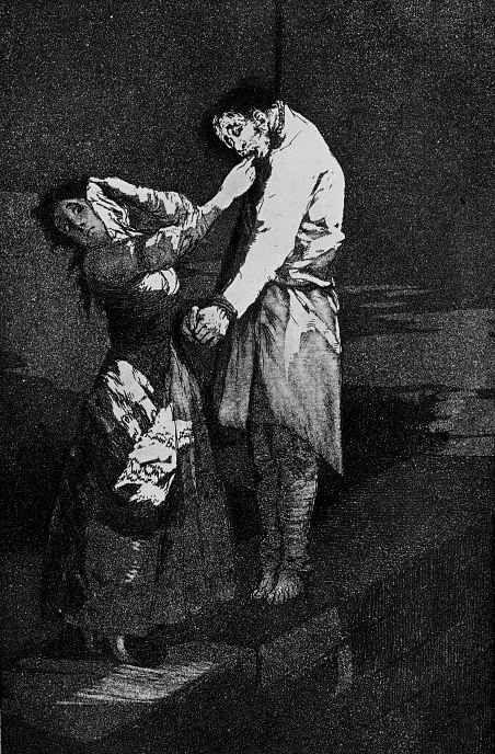 """Франсиско Гойя. """"Охота за зубами"""" (Серия """"Капричос"""", страница 12)"""