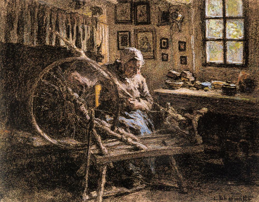 Leon Augustin Lermitt. Spring wheel