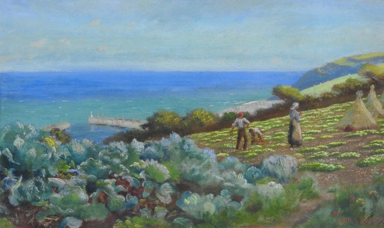 Arthur Hughes. Field over Neulen