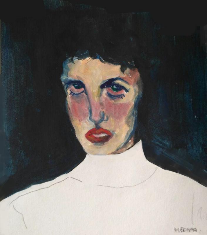 Liliya Nikolaevna Mityukova. Self-portrait