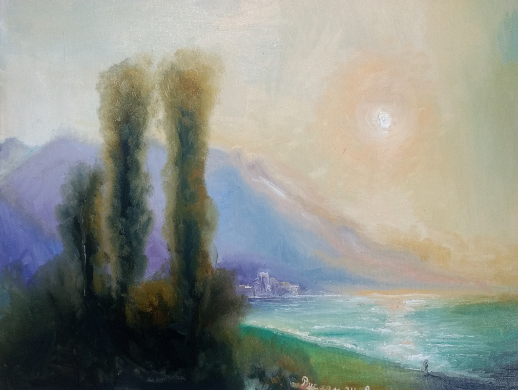 Ruslan Shakirov. Dawn over Yalta according to Aivazovsky