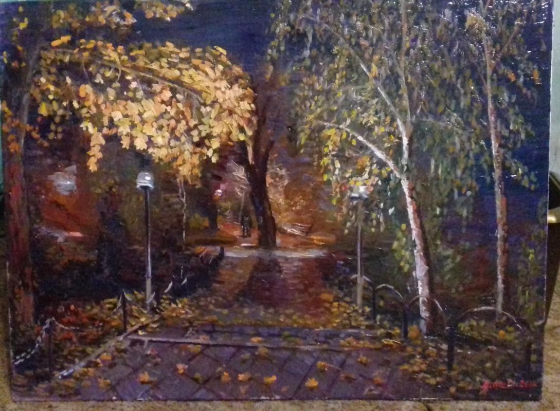 George Illich Mitric. Night in the park