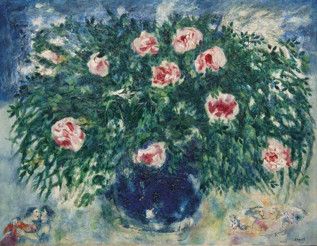 Marc Chagall. Vase with roses