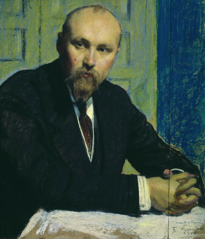 Boris Mikhailovich Kustodiev. Portrait Of Nicholas Roerich