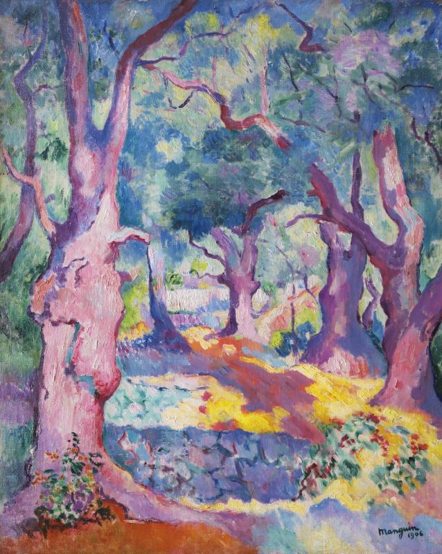 Анри Шарль Манген. Оливковые деревья в Кавальере