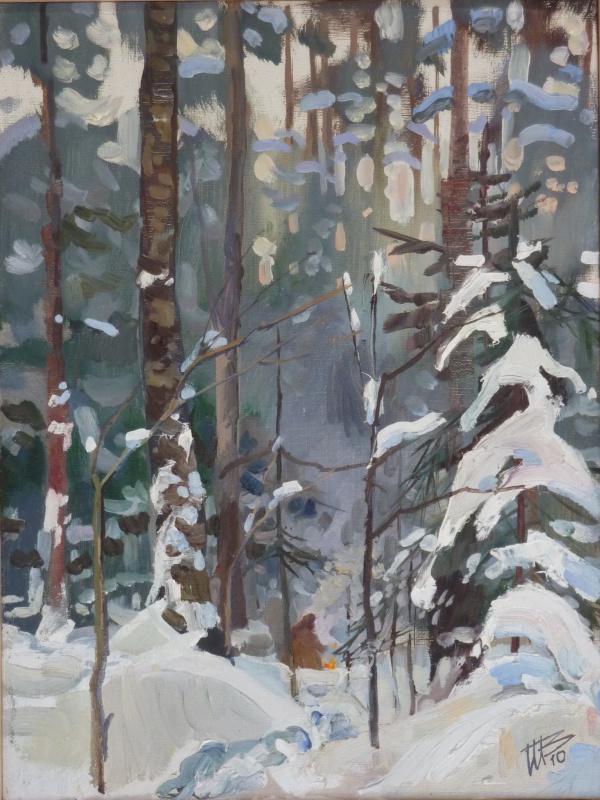 Vladimir Nikitovich Shmuratko. Winter bonfire