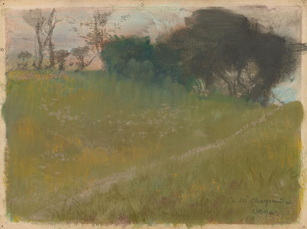 Эдгар Дега. Пейзаж с тропинкой, ведущей к роще