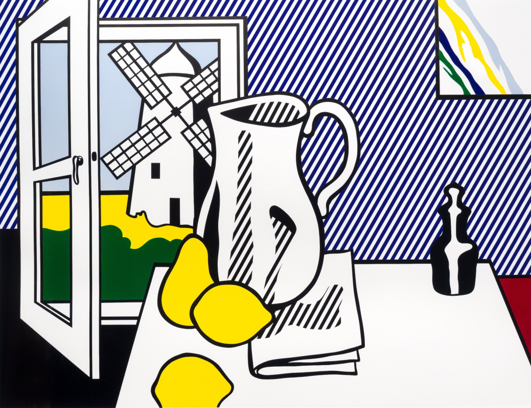Roy Liechtenstein. Still life with windmill