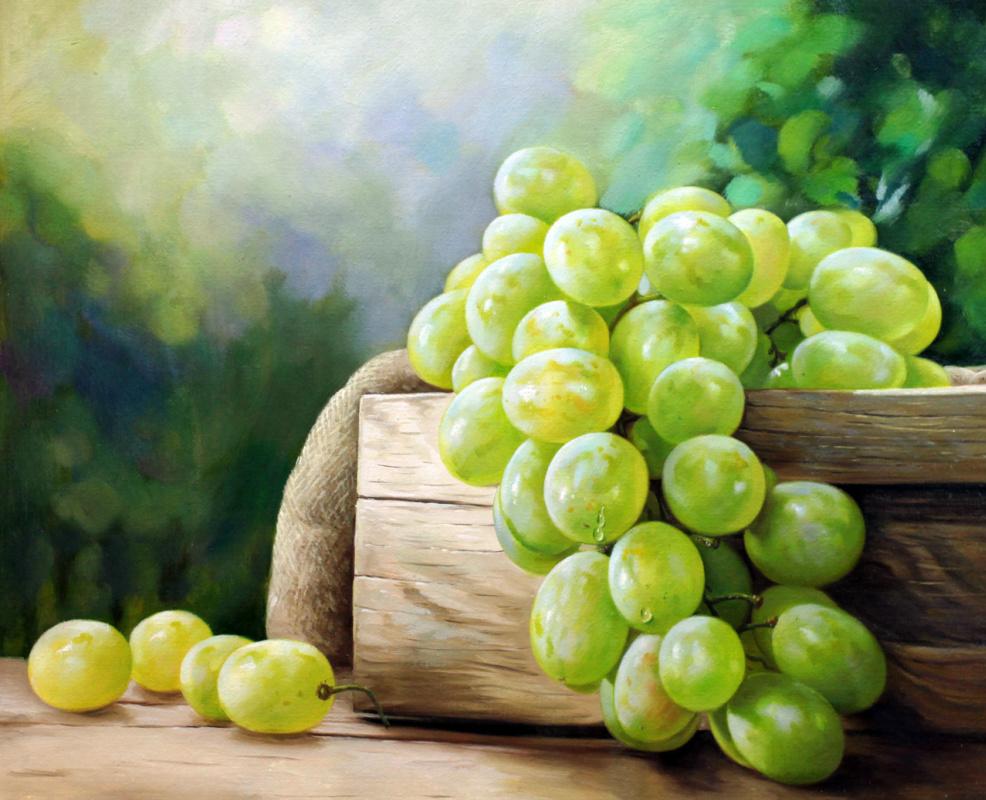 Савелий Камский. Натюрморт с виноградом