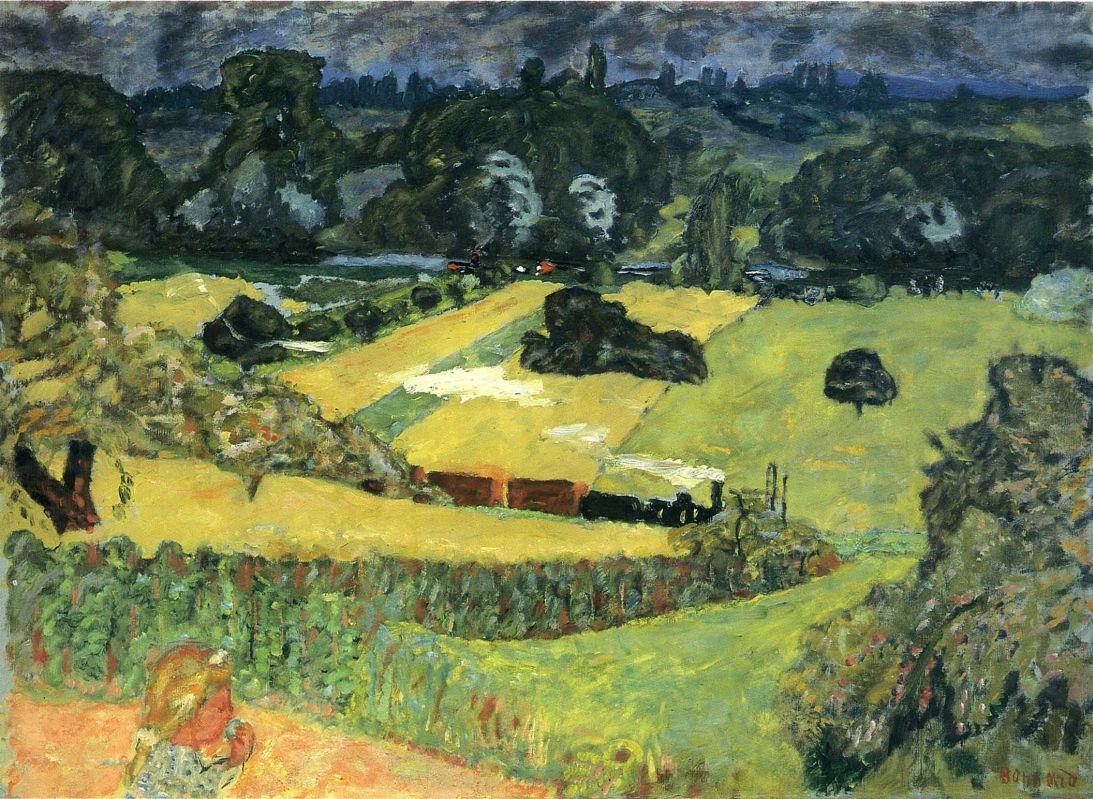 Pierre Bonnard. Landscape with goods train
