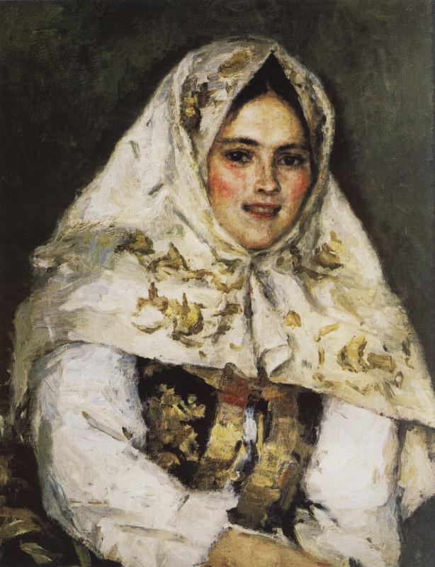 Vasily Ivanovich Surikov. Siberian beauty. Portrait Of Catherine Alexandrovna Raczkowski