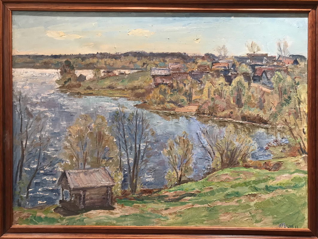Andrey Andreevich Tutunov. Blooming May on the lake
