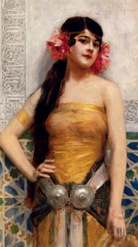 Леон Франсуа Комерр. Цветы в волосах