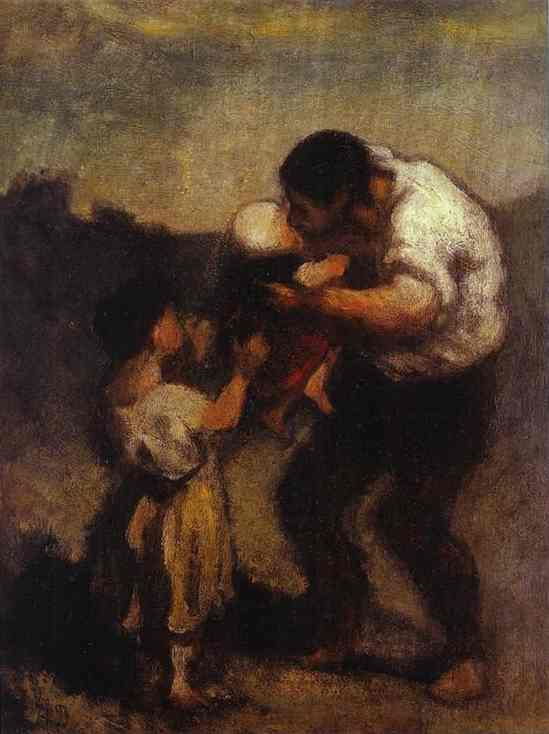 Honore Daumier. Child